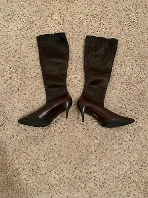 12865d124f6 GUCCI LEATHER KNEE BOOTS Size 11 Brown -  119.99