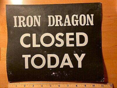 CEDAR POINT Amusement Theme Park Iron Dragon Coaster, Ticket booth sign, 1980s