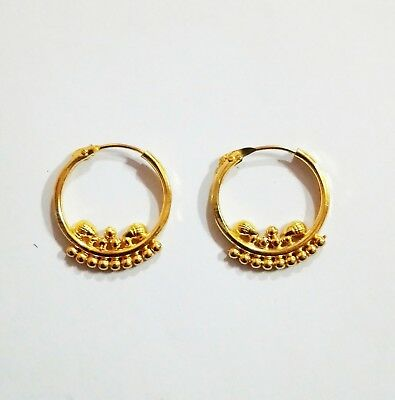 Indian Traditional Bali Gold Plated Small Ring Earrings Jhumki