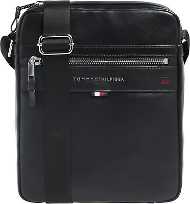 7539ab4478 Tommy Hilfiger Elevated Reporter Novelty Homme Sac Besace - Black Une Taille