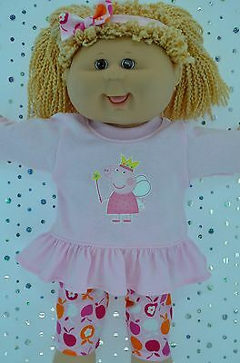 "Play n Wear Doll Clothes To Fit 16"" Cabbage Patch PATTERN LEGGINGS~TOP~HEADBAND"