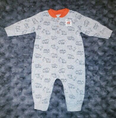 4e195a953ed5 VGUC Carters Baby Boy Clothes 3 Months One Piece Long Sleeve Gray Truck  Romper