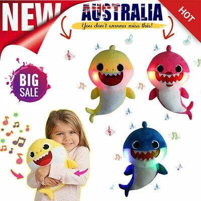 2019 Shark Plush Singing Plush Toys Baby Music Doll English Song Best Gift