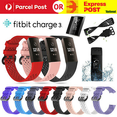 For Fitbit Charge 3 Bands Sport Watch Bracelet Wrist Strap Breathabl Replacement