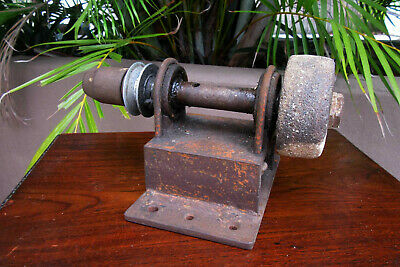 Vintage Doohickey Hand Made Grinder Drill Unusual Tool -Man Cave Machine Display