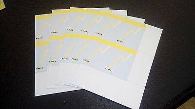 20 Cd Labels Perforated Jukebox Cards Title Strips For Ami Nsm & Sound Leisure