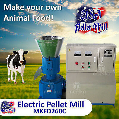 Electric Pellet Mill For Cow's Food - MKFD260C - USA