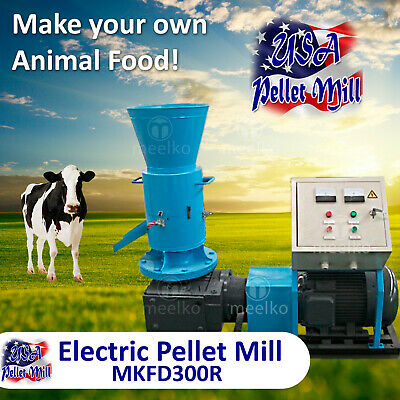 Electric Rotating Roller Pellet Mill For Cow's Food - MKFD300R - USA