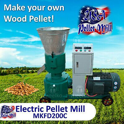 Electric Pellet Mill For Cow's Food - MKFD200B - USA
