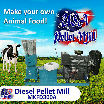 Diesel Pellet Mill For Cow's Food - MKFD300A - USA