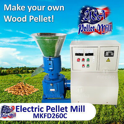Electric Pellet Mill For Wood - MKFD260C - USA