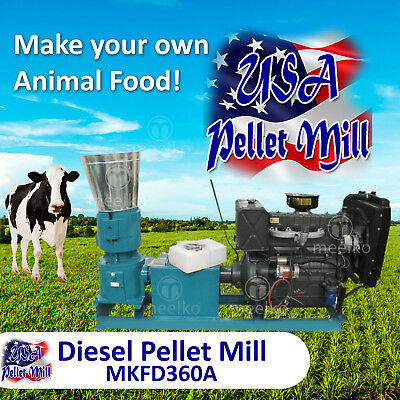 Diesel Pellet Mill For Cow's Food - MKFD360A - USA