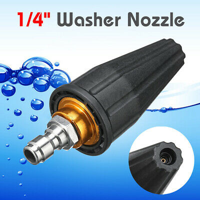 "7mm High Pressure Washer Rotating Turbo Nozzle 3600PSI 1/4"" Quick Connect"