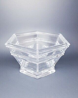 Tiffany & CO Windham Clear Crystal 7.5 Inch Signed Hexagon Bowl