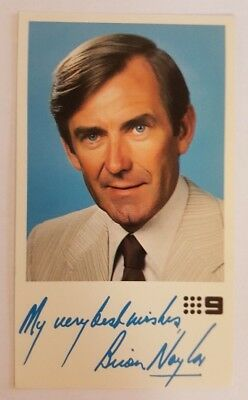 Brian Naylor Television Fan Card - Channel 9