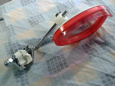 Legshield Clamp On Mirror Red Kidney Shape Fit's Lambretta & Vespa ...NEW