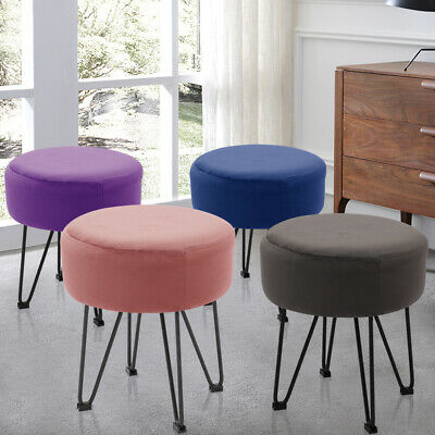 Round Stool Ottoman Make Up Chair Footstool Rest Seat For Living Room Bedroom