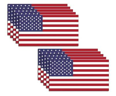 Sticker 3M Military-Marines-Army w U//V LAM. American Flag USA PACK OF 3