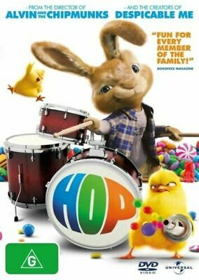 Hop DVD Movie EASTER BUNNY FAMILY ROCK 'N' ROLL BAND DRUMMER CHICKS BRAND NEW R4