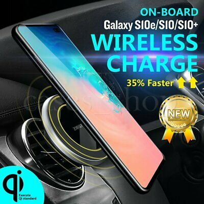 For Samsung Galalxy S10 Plus Wireless Car Charger Magnetic Air Vent Mount Holder