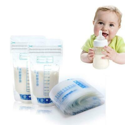 30PCS 250ml Breast Milk Storage Freezer Bags Fresh Sealing Leakproof Clear Bags