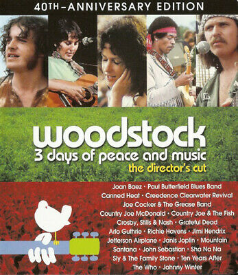Woodstock: 3 Days of Peace and Music (1970 Documentary; Anniversary) BLU-RAY NEW