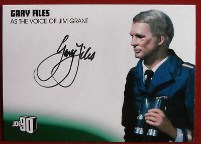 JOE 90 - GARY FILES as Jim Grant - Autograph Card GF1 Unstoppable Cards 2017