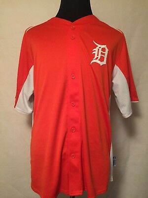 MLB Detroit Tigers XL 2011 Embroidered Cool Base BP Jersey by Majestic