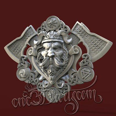3D Model STL CNC Router Artcam Aspire Viking Celtic Amulet Panel Cut3D Vcarve
