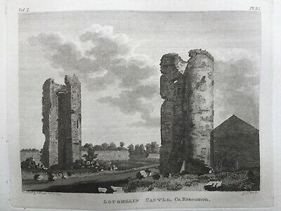 1791 Antique Print; Loughglynn Castle, Co. Roscommon, Ireland by Grose / Cocking