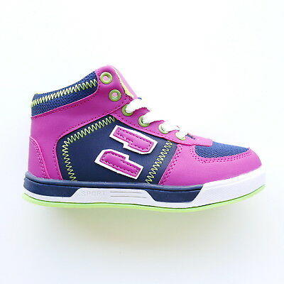 Girls High Top Purple Sports Trainers Shoes Lace Up By Krush