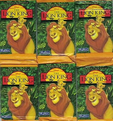 50 Packs The Lion King Trading Cards New Skybox Disney 1994 Guard Stickers