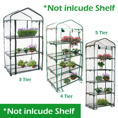 3 4 5 Tier Mini Replacement Greenhouse Covers Walk In Reinforced Cover Plastic