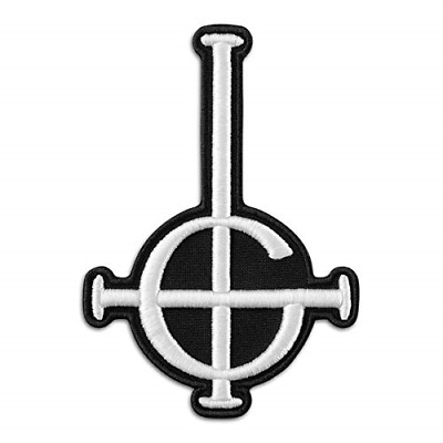 Ghost BC Grucific Symbol 3D Puff Embroidered Patch/Heavy Metal Doom Hard Rock ×
