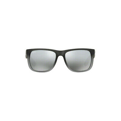cc00497f65 Ray Ban Justin Sunglasses RB4165 Gray 852 88 55mm Silver Mirror Gradient UV  Lens