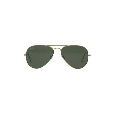 2ddf875ef52e4 New Original Ray Ban Aviator Sunglasses RB3025 Gold Frame L0205 58mm Green  Lens