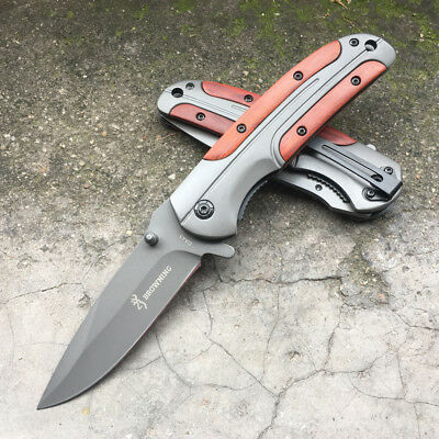 Browning Folding Pocket Knife Tool For Camping Rescue Hunting Survival Fishing