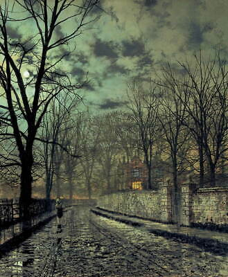 John Atkinson Grimshaw November Giclee Canvas Print Painting Poster Reproduction