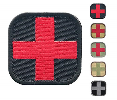Medic Cross First Aid Morale Patch - Stitch/Embroidered - Perfect for IFAK Rip -