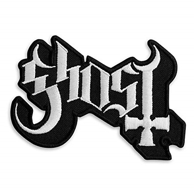 """Ghost BC Logo Heavy Metal Doom Hard Rock Band Embroidered Patch Iron On 3.8"""" x"""
