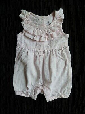 Baby clothes GIRL premature/tiny<7.5lb/3.4kgpink,white stripe dress-style romper