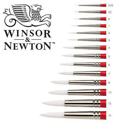 Winsor & Newton UNIVERSITY Series 233 Watercolour Paint Brushes ROUND #RED1