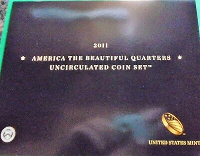 2011 p,d Uncirculated America The Beautiful National Park Quarters 10 Coin Set