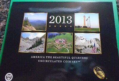 2013 p,d Uncirculated America The Beautiful National Park Quarters 10 Coin Set