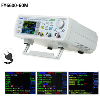 FY6600 60MHz DDS Dual-channel Function Frequency Signal/Arbitrary Generator EU