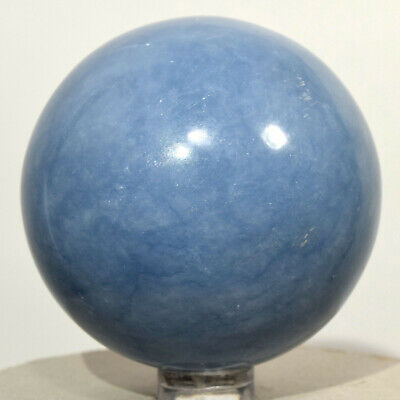58mm Peruvian Blue Angelite Sphere Natural Sparkling Crystal Mineral Stone Ball