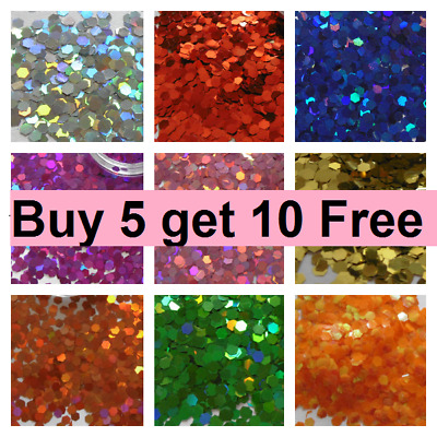 Glitter Chunky Cosmetic Craft Lip Body Hair Lip Face Painting - 12 bags - £6.45