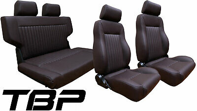Swell 1966 1977 Early Ford Bronco Black Front Rear Seat Kit Uwap Interior Chair Design Uwaporg