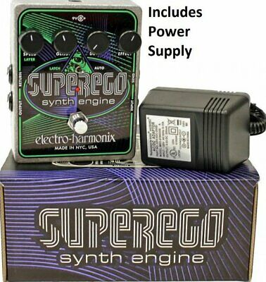 Electro Harmonix Superego Synth Engine Guitar Effect Pedal w/ Power Supply