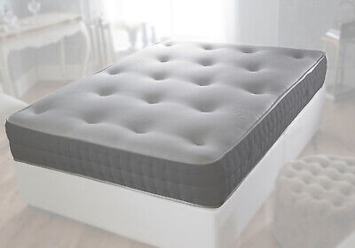 "12"" Double Sided Grey Tufted Memory Foam Orthopaedic Mattress Turnable Mattress"